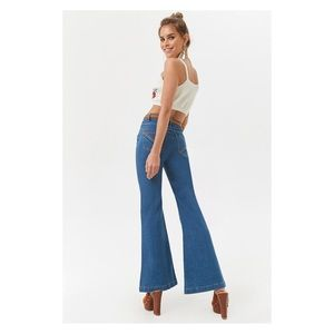 High-Rise Flared 70s Rainbow Bottom Vintage Jeans